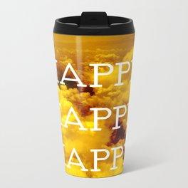 Happy Happy Happy II Metal Travel Mug