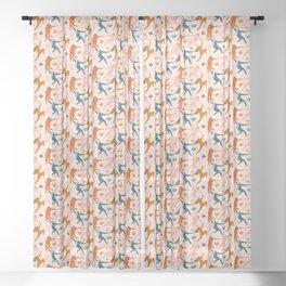 Nymphs pattern Sheer Curtain