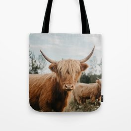 Highland Cow In The Country Tote Bag