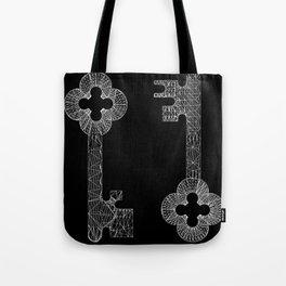 CASTLE KEYS b/w Tote Bag