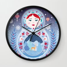 Our Lady of Winter Wall Clock