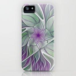 Flower Dream, Abstract Fractal Art iPhone Case