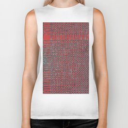 Left - Red and turquoise Biker Tank