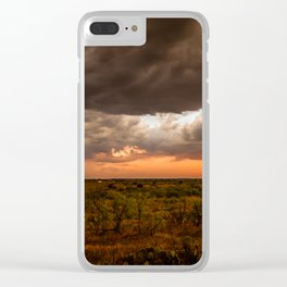West Texas Sunset - Colorful Landscape After Storms Clear iPhone Case