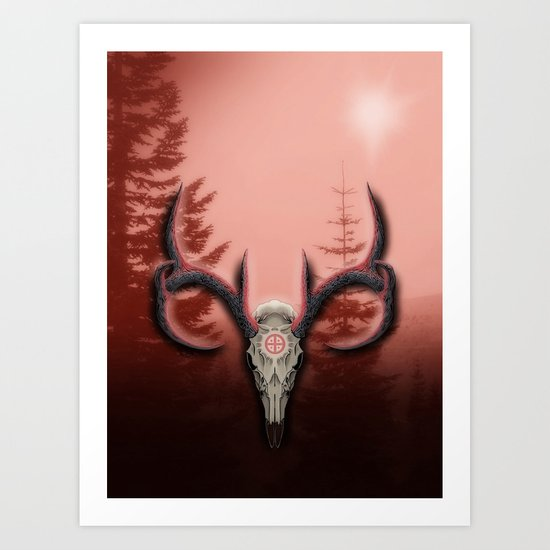 Warm Horns Art Print