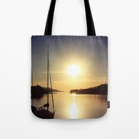 boat Tote Bags featuring Boat by JoanaRosaC