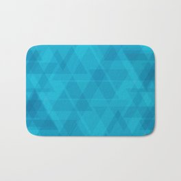 Gentle light blue triangles in the intersection and overlay. Bath Mat