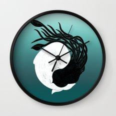 Sea Frenemies Wall Clock
