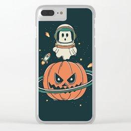 Pumpkin Planet Clear iPhone Case