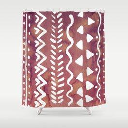 Loose boho chic pattern - purple brown Shower Curtain