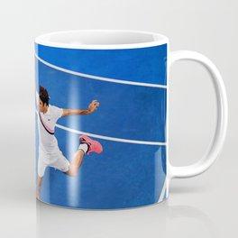 Flying Federer Tennis Backhand Coffee Mug