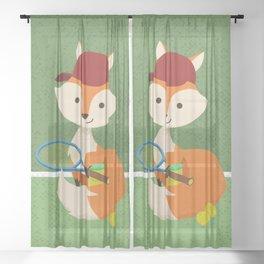 Tennis fox Sheer Curtain