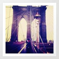 brooklyn Art Prints featuring Brooklyn by April Gann