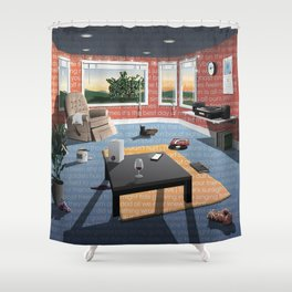 "Hippo Campus - ""Landmark"" Lyrics Shower Curtain"