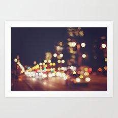 San Francisco Blur Art Print