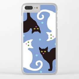 Cats Blue Clear iPhone Case