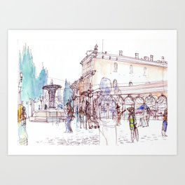 Saturday Market Art Print