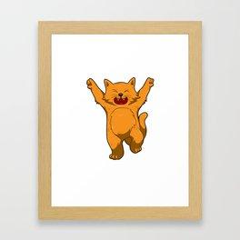 Jubilation Cat Dance Emote Funny Gift Framed Art Print