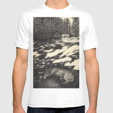 pines White MEDIUM Mens Fitted Tee