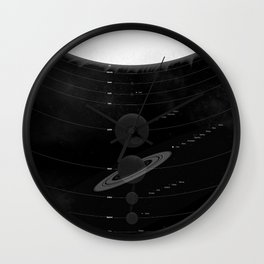 The Worlds (Black) Wall Clock