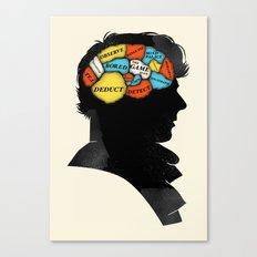 Sherlock Phrenology Canvas Print