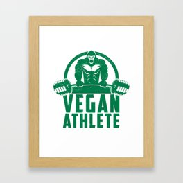 Vegan Athlete Muscle Gorilla - Funny Workout Quote Gift Framed Art Print