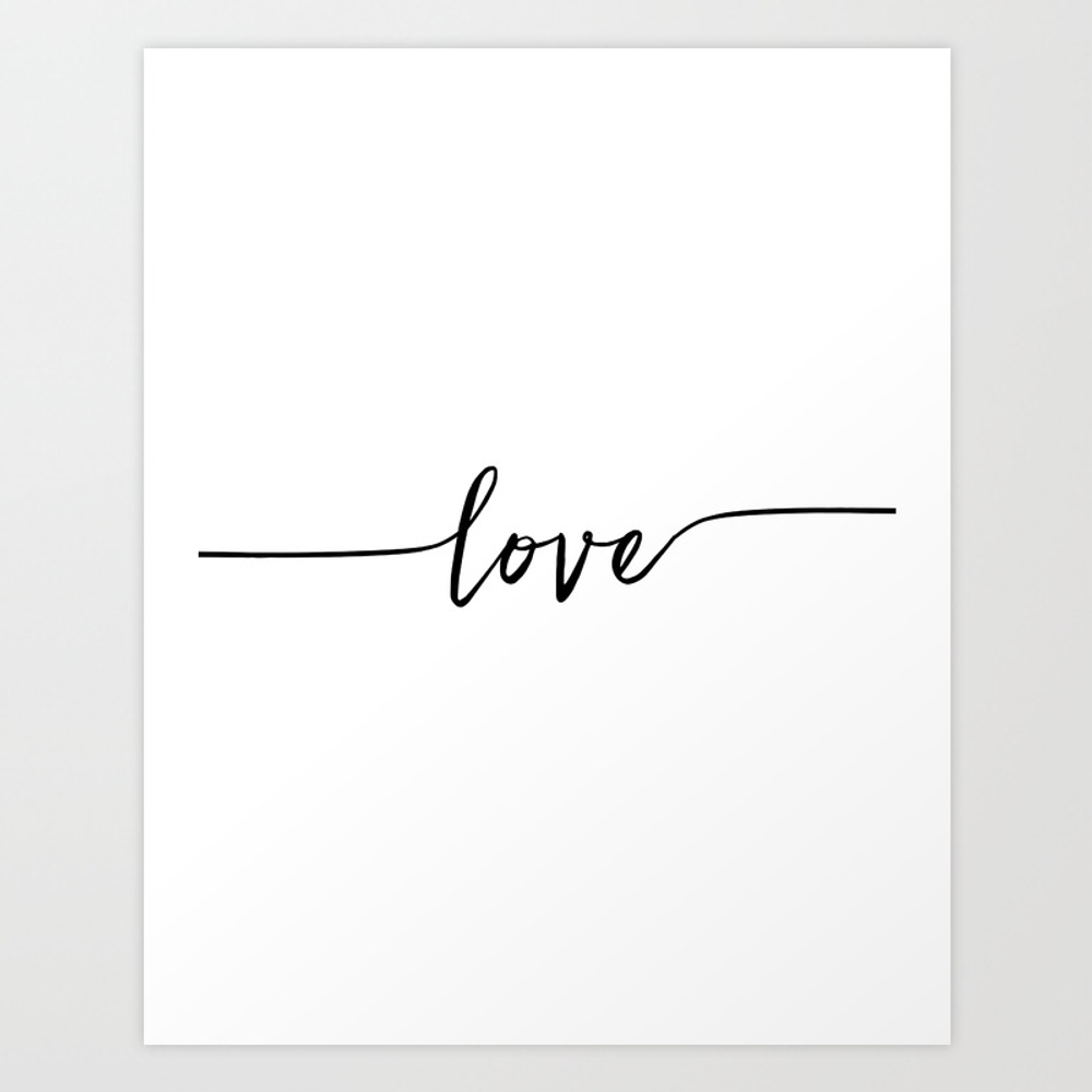 Love Sign,love Art,love Print,love Poster,valentin… Art Print by Aleksmorin PRN7092095