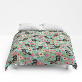 Dachshund dapple coat dog breed floral pattern must have doxie gifts dachsies Comforters