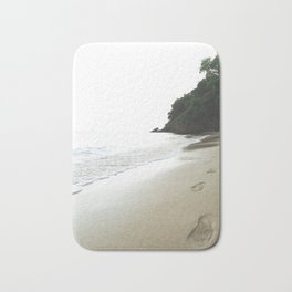 Footsteps in the Sand Bath Mat
