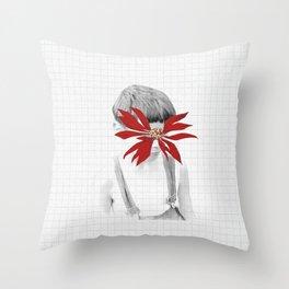 Flor de la Noche Bueno Throw Pillow