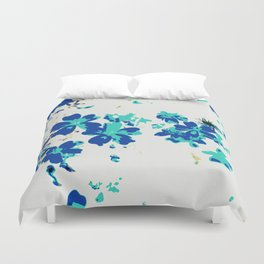 Blue vintage flowers Duvet Cover