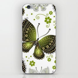 Colorful Butterflies and Flowers V16 iPhone Skin