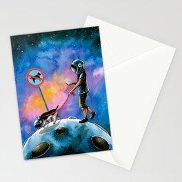 moonwalking Stationery Cards