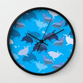 Aquaflage Wall Clock