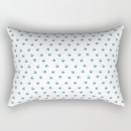 Dancing Fudge Sundaes in Blue Rectangular Pillow