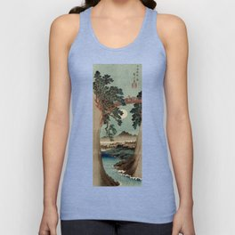 Saruhashi Bridge in Kai Province Japan Unisex Tank Top