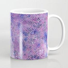 Purple and faux silver swirls doodles Coffee Mug