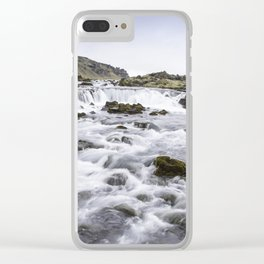 Iceland Waterfall Clear iPhone Case