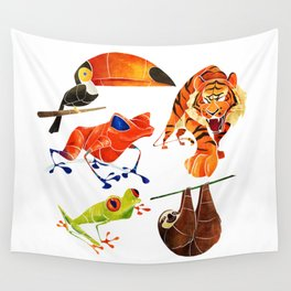 Rainforest animals 2 Wall Tapestry