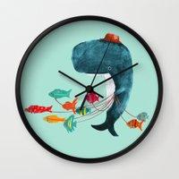 fish Wall Clocks featuring My Pet Fish by Picomodi