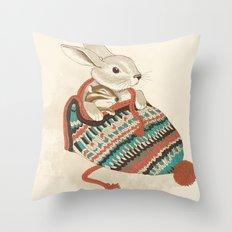 cozy chipmunk Throw Pillow