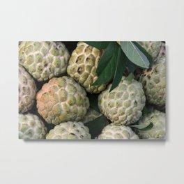 Cherimoya - cinnamon apple - Noi Na Fruits Metal Print