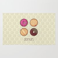 donuts Area & Throw Rugs featuring Donuts by Monstruonauta