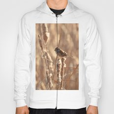 A Sparrow on Catails Hoody