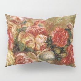 """Auguste Renoir """"Roses dans un vase de Sèvres"""" Pillow Sham"""