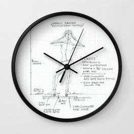 Pensive Drawing, Transitions through Triathlon Wall Clock
