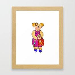 Miss Koala Framed Art Print