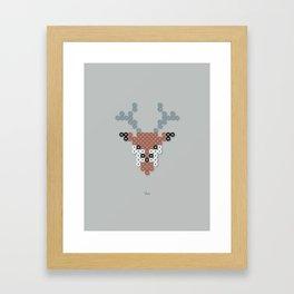 Deer Beads Framed Art Print