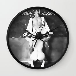 NSFW! Adult content! Cartoon sex games, sexual education, hot black and white erotic Wall Clock