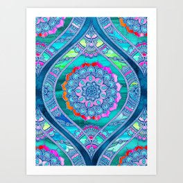 Radiant Boho Color Play Art Print